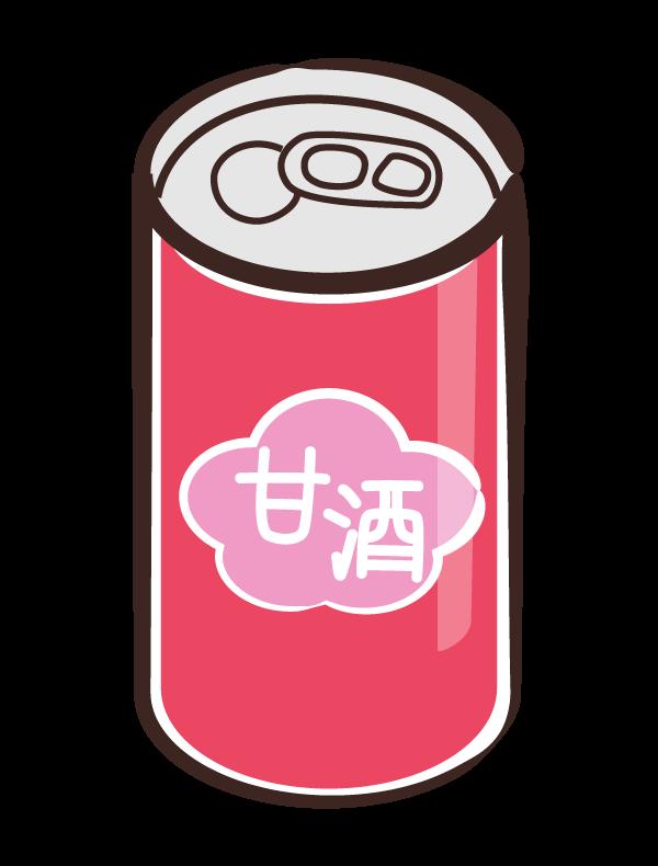 甘酒の缶のイラスト