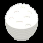 ご飯(大盛)のイラスト