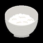 ご飯(小盛)のイラスト