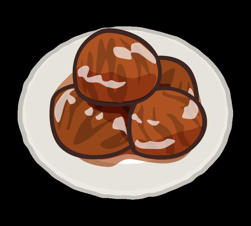 栗の渋皮煮のイラスト
