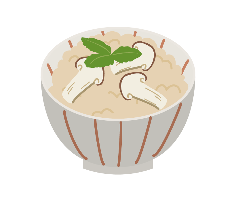 松茸ご飯のイラスト