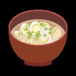 あさりのお味噌汁のイラスト