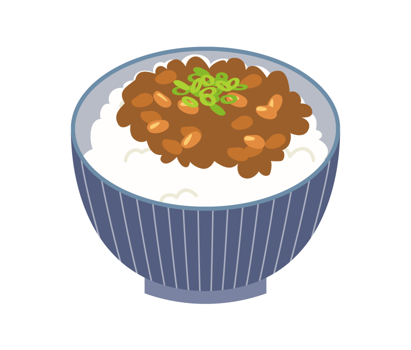 納豆ご飯のイラスト