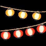 赤と黄色の提灯のイラスト