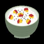 サツマイモご飯のイラスト