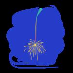 夜と線香花火のイラスト