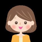 笑顔の女性の顔イラスト