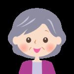 笑顔のおばあさんの顔のイラスト