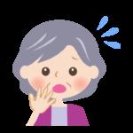 焦っているおばあさんの顔のイラスト
