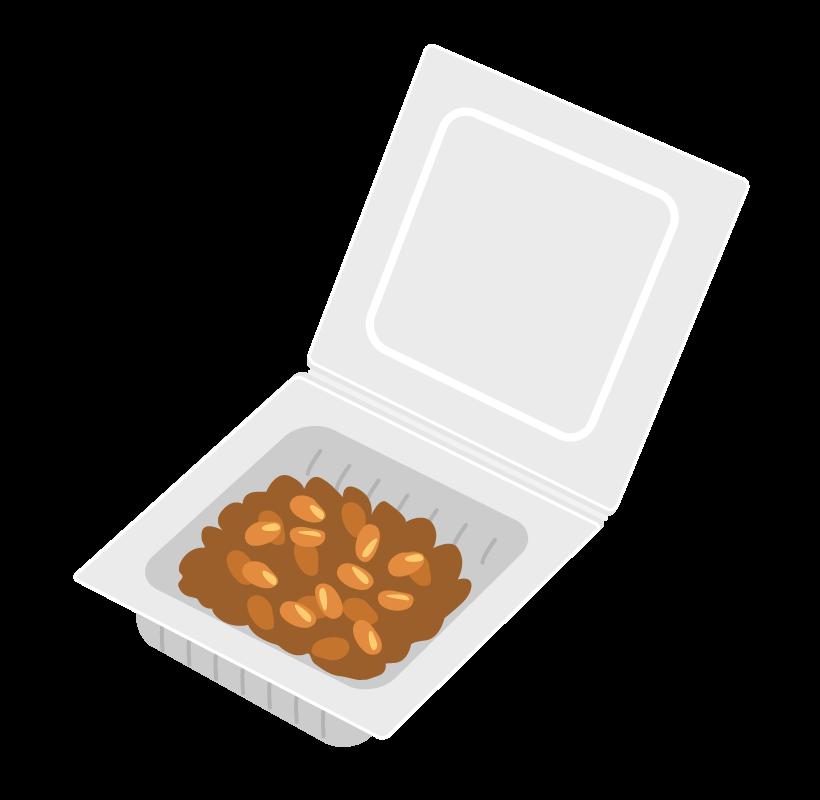 パックに入った納豆のイラスト