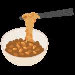 器に入った納豆のイラスト