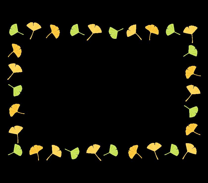 イチョウのフレーム・枠イラスト_03