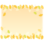 イチョウのフレーム・枠イラスト_05
