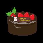 クリスマスケーキ・ザッハトルテのイラスト