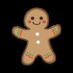 クリスマス・ジンジャーブレッドマンのイラスト