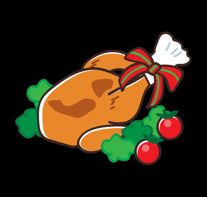 クリスマス・ローストチキンのイラスト