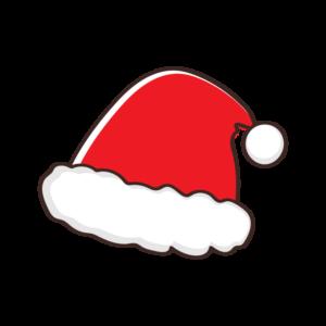 クリスマス・サンタ帽子のイラスト