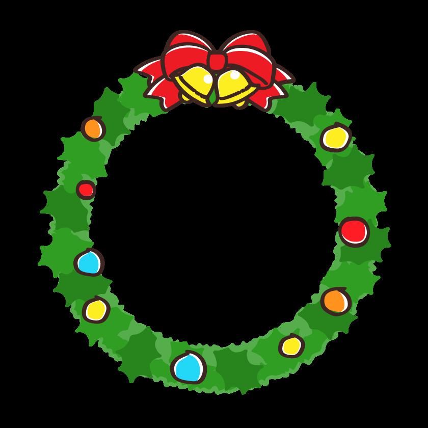 クリスマスリースのフレーム・枠イラスト