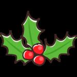 クリスマス・ヒイラギのイラスト