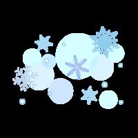 雪の結晶のふんわり水色のイラスト