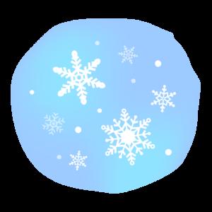 雪の結晶の青色のイラスト