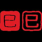 干支「巳」(へび年)ハンコ風のイラスト