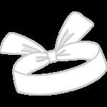 白い鉢巻のイラスト