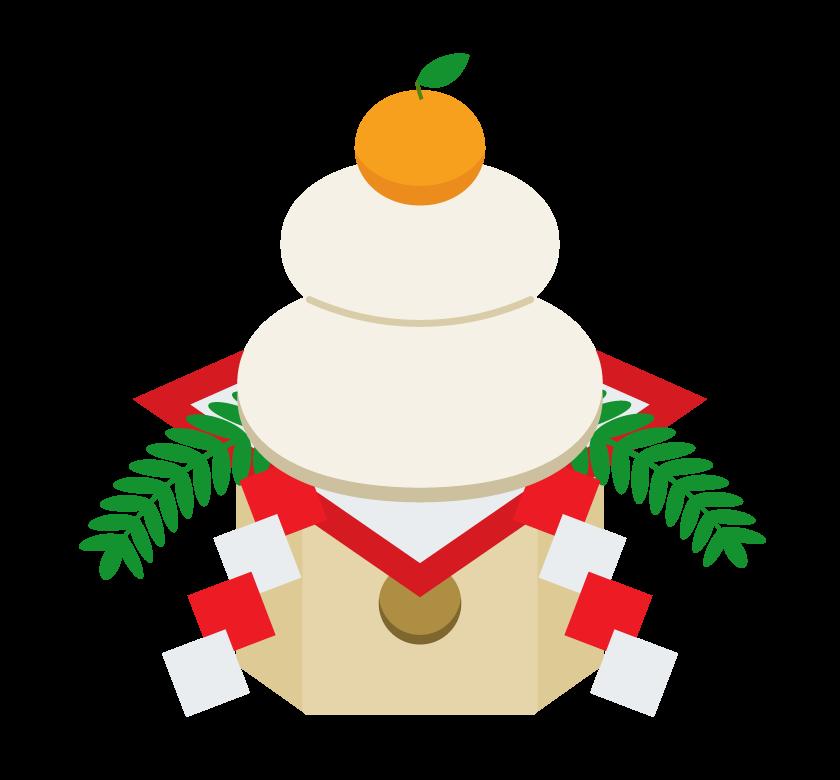 お正月・鏡餅のイラスト