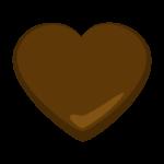 ハートのチョコレートのイラスト
