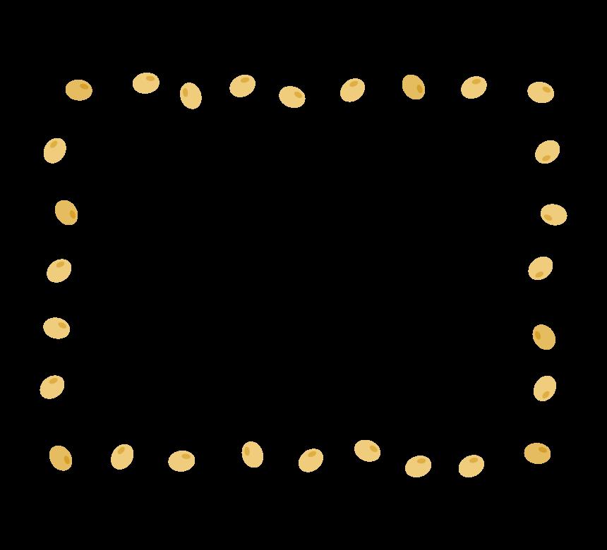 大豆の囲みフレーム・枠イラスト