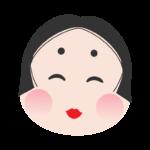 おかめの顔のイラスト