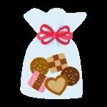 クッキーを詰め合わせたプレゼントのイラスト
