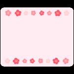 梅の花のフレーム・枠イラスト_02