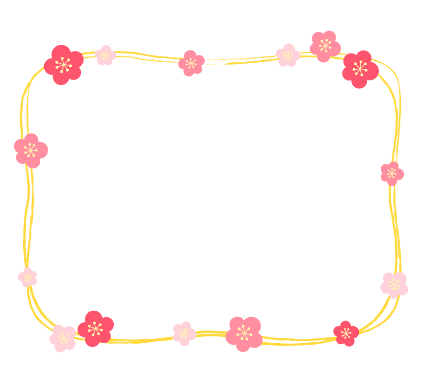 梅の花のフレーム・枠イラスト_03