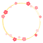 梅の花のフレーム・枠イラスト_04
