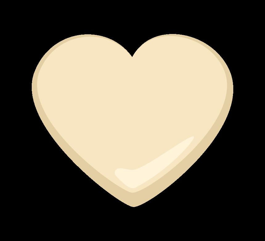 ハートのホワイトチョコレートのイラスト