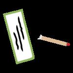 俳句・短冊と筆のイラスト