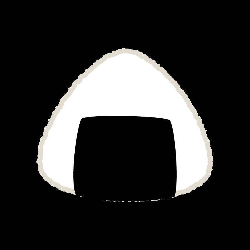 海苔三角おにぎりのイラスト