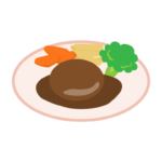 ハンバーグのイラスト