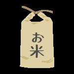 紙袋入りのお米のイラスト