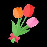 チューリップの花束のイラスト