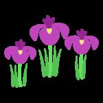 こどもの日 菖蒲の花のイラスト