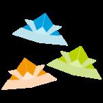 折り紙で折った紙兜のイラスト