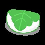 白い柏餅のイラスト