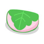 ピンク色の柏餅のイラスト