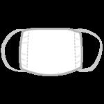 白い布マスクのイラスト