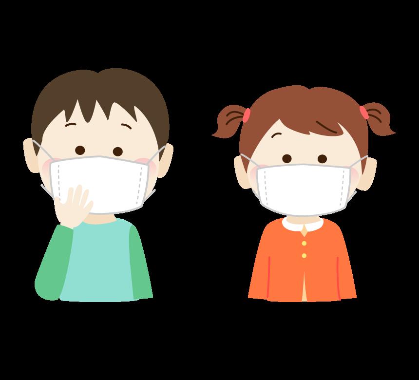 マスクをしている子供のイラスト