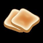 こんがり焼いたトーストのイラスト