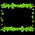 緑色のもみじの囲みフレーム・枠イラスト