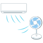 エアコンと扇風機のイラスト